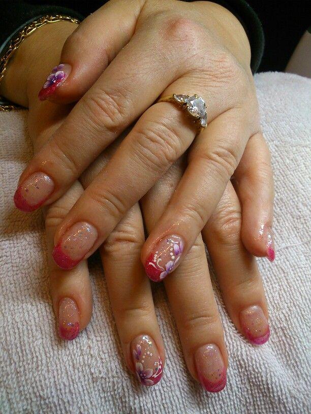 Nail art con fiori micropittura hands beauty pinterest nail nail nail art con fiori micropittura prinsesfo Gallery