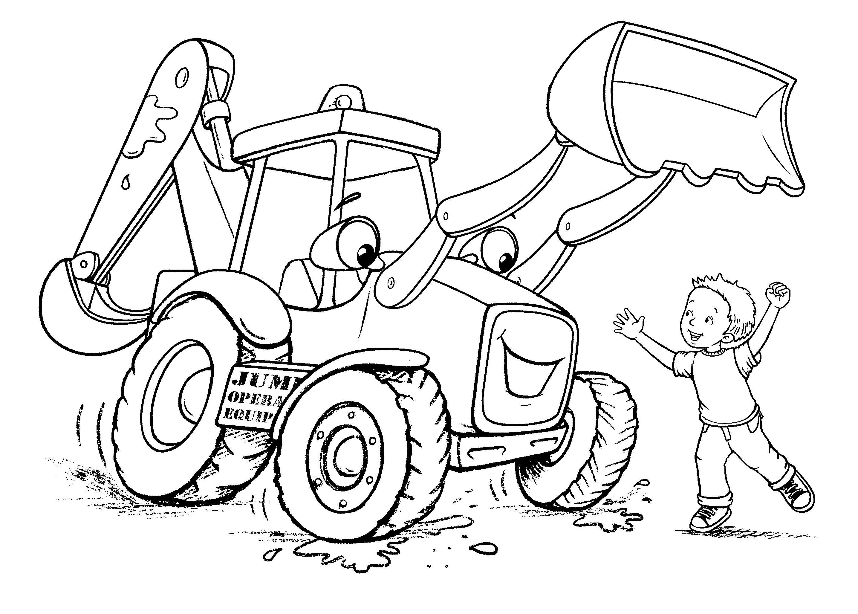 Backhoe Joe Coloring Sheet Coloring Pages Coloring Sheets Color