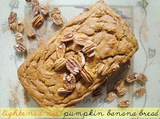 Food love life lightened up pumpkin banana bread bananas for food love life recipe lightened up pumpkin banana bread forumfinder Images