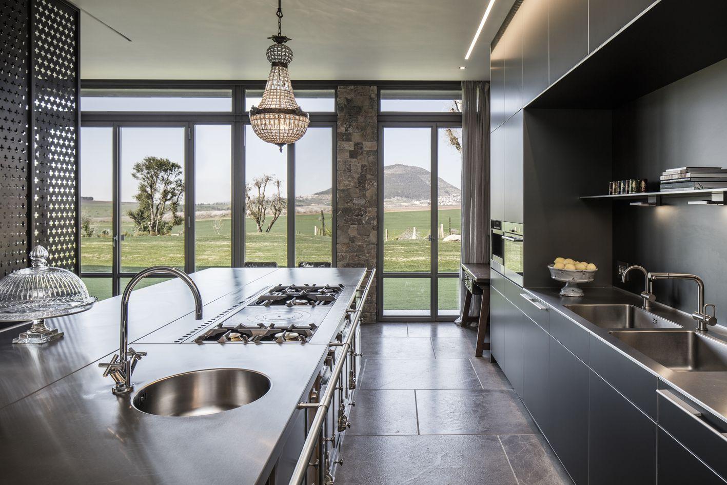 La Cornue island stainless steel Château 150 | La Cornue Kitchen ...