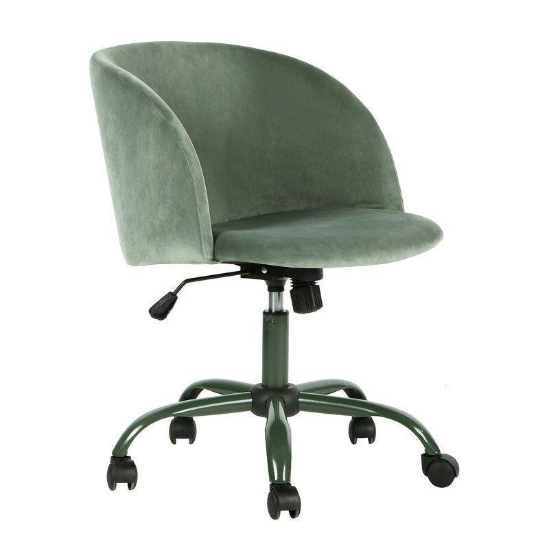Jameown velvet task chair in 2020 chair office chair
