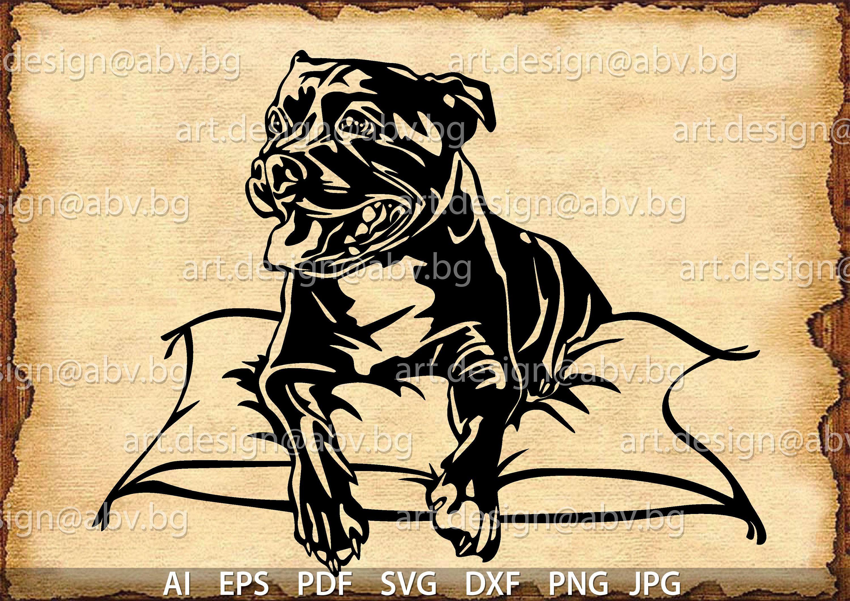001-dog Scroll saw pattern pdf, jpg, dxf, svg, eps