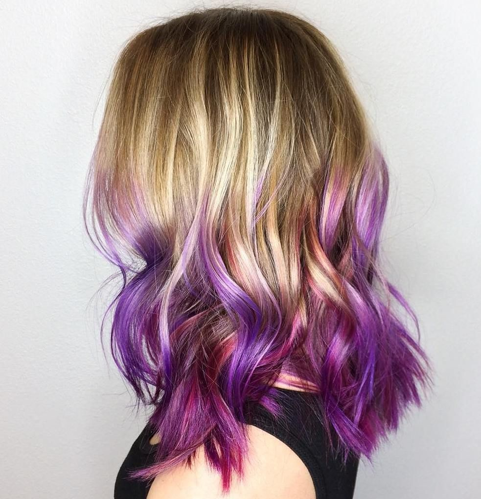 50 Cool Ideas Of Lavender Ombre Hair And Purple Ombre Ombre Hair Blonde Purple Ombre Hair Light Hair Color