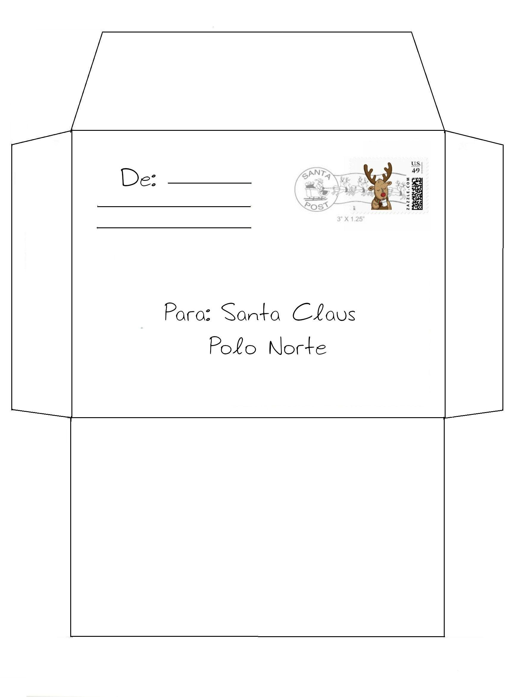 sobre para carta a santa imprimible | navidadd | Pinterest