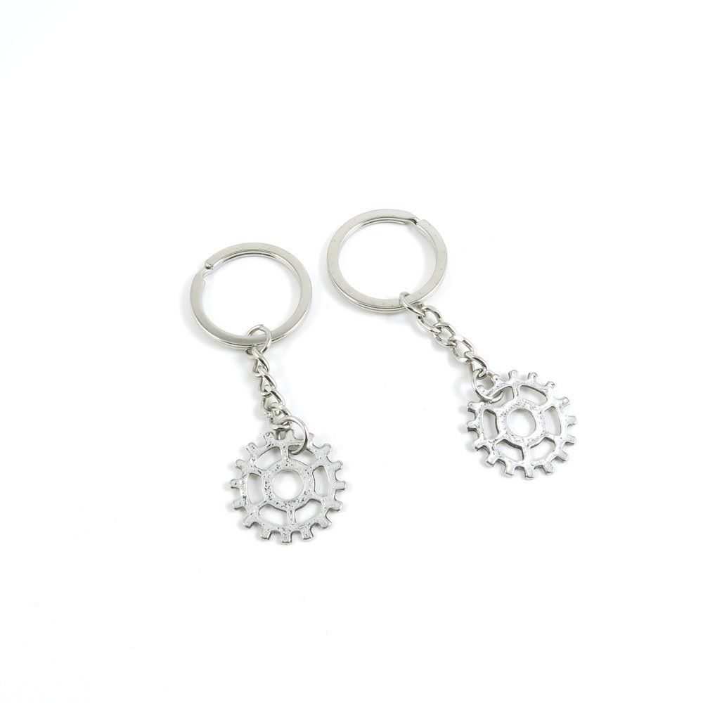 1 Pieces Keychain Door Car Key Chain Tags Keyring Ring Chain Keychain  Supplies Antique Silver Tone Wholesale Bulk Lots Gear Gearwheel     Don t  get left ... 5fb55d0728