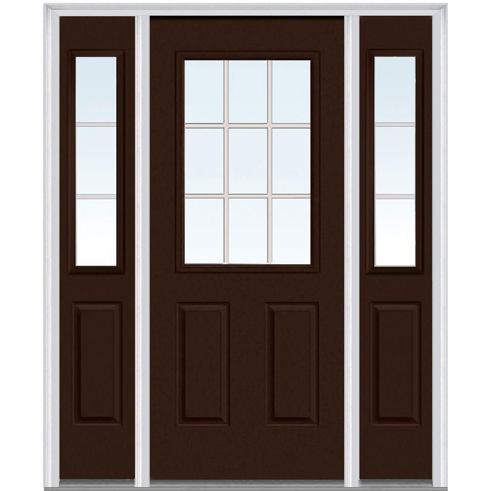 Milliken Millwork 68 5 In X 81 75 In Classic Clear Glass Gbg 1 2 Lite 2 Panel Painted Majestic Steel Exterior Door W Steel Doors Exterior Mmi Door Front Door