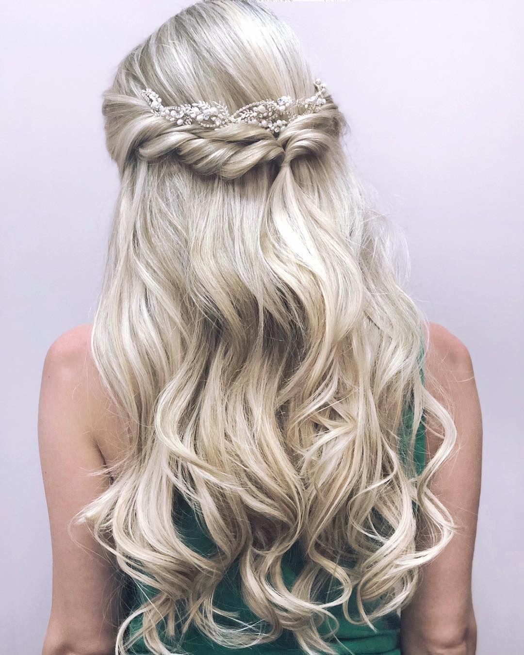 Wedding Hair Inspiration Half Up Blonde Wedding Hair Wedding