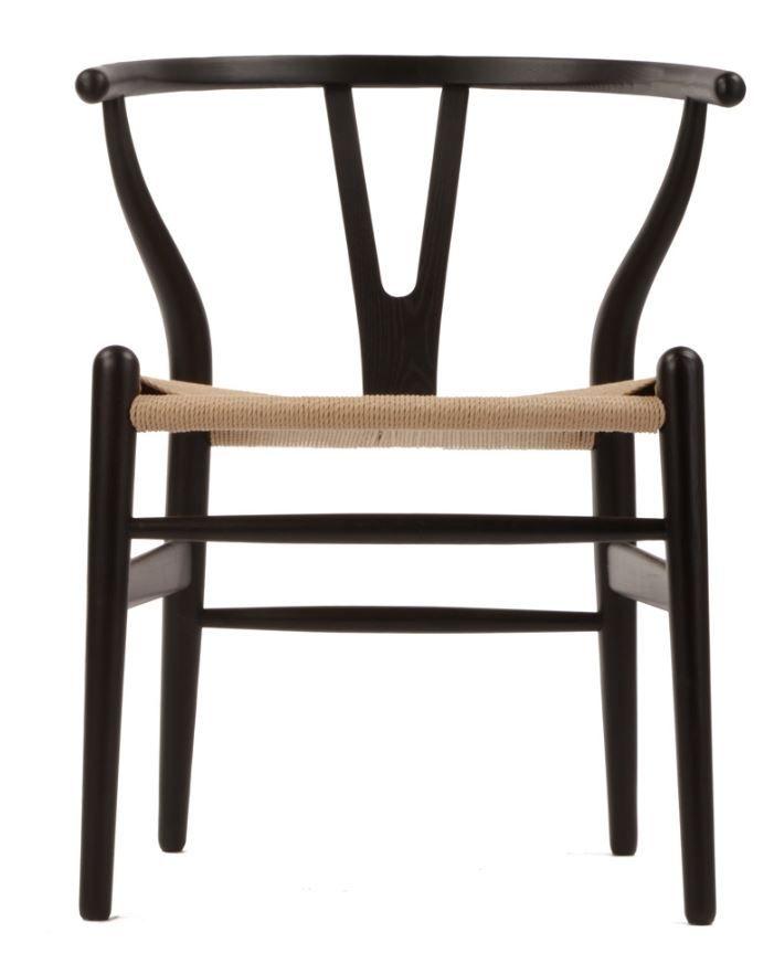 The Matt Blatt Replica Hans Wegner Wishbone Chair Black/Natural