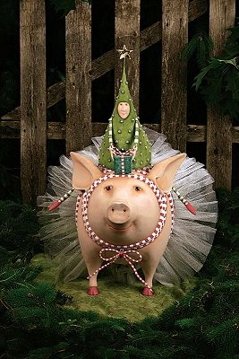 Joyful Pig Display by Patience Brewster