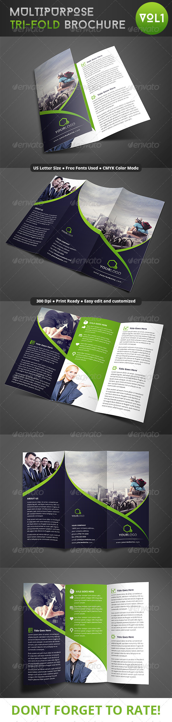 Multipurpose Trifold Brochure  Brochures Corporate Design And