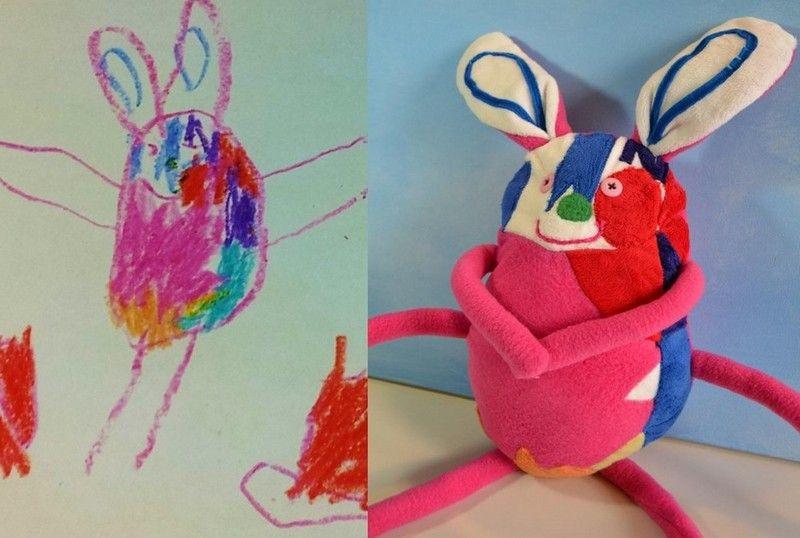 Potryasayushaya Biznes Ideya Myagkie Igrushki Po Detskim Risunkam Novye Biznes Idei Novye Idei Biznesa Idei Biz Childrens Drawings Drawing For Kids Art For Kids