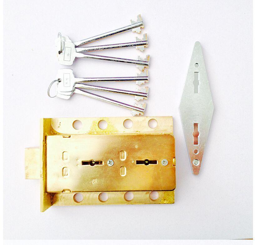 Free Shipping Brass Safe Deposit Box Brass Dual Deadbolt