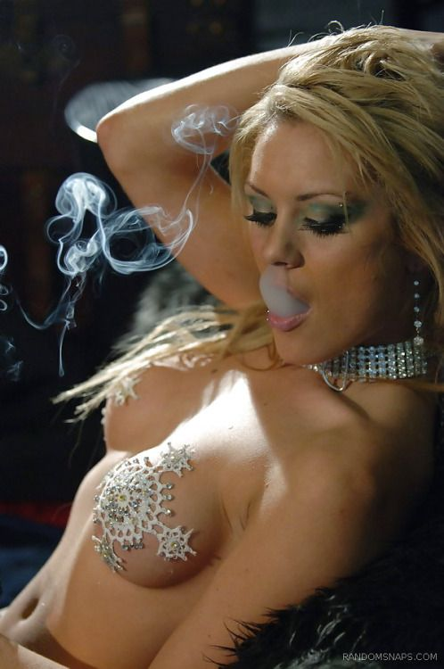 Hot sexy blondes smoking