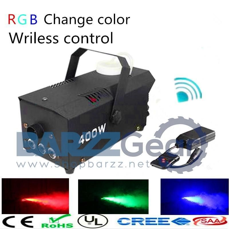 LED Smoke Fog Machine/RGB Change Color Stage Remote Or Wire Control