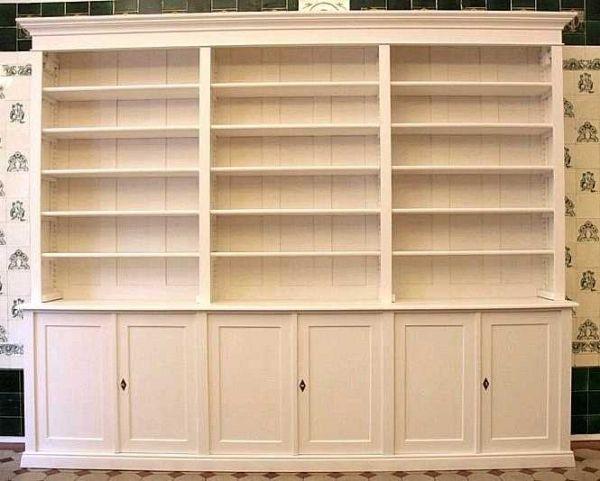Bücherregal Klassisch bücherregal aus massivholz weiß lasiert dreier15 bild 2 regale