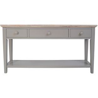 Buy Fairview Wooden Console Table With 3 Drawers Grey At Argos Co Uk Your Online Shop For Occasional Wooden Console Table Console Table Statement Furniture