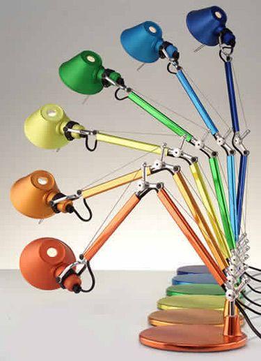 Colorful Tolomeo Mini Table Lamp Mini Table Lamps Lamp Artemide