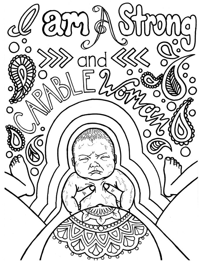 Bringing Baby Earthside: A Birth Affirmations Coloring