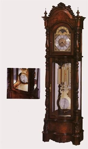 Howard Miller Veronica Floor Clock. h1Howard Miller Veronica Floor Clock_h1The Howard Miller Veronica Floor Clock. This Victorian style floor clock with a satin Windsor Cherry finish offers elegant details. An ornate pediment features bookmatched olive ash .. . See More Floor Clocks at http://www.ourgreatshop.com/Floor-Clocks-C1127.aspx