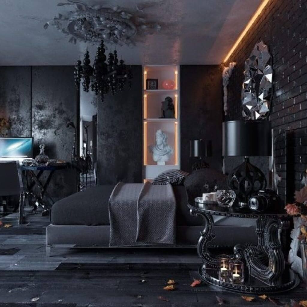10 Gothic Bedroom Ideas 2021 Dark And More Black Bedroom Design Black Interior Design Interior Wall Design