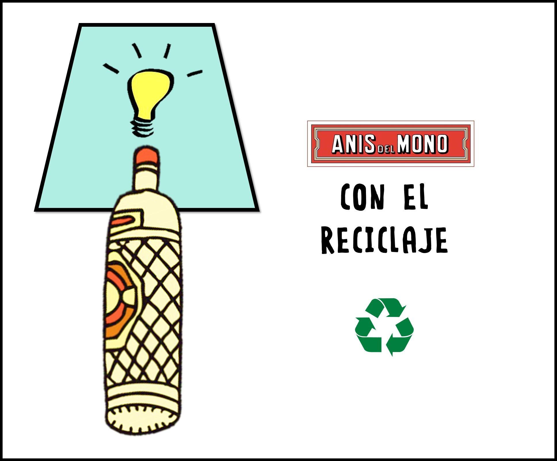 ¿Y si reutilizamos las botellas de #AnísdelMono?¿Se te ocurren ideas para darle un uso diferente y moderno?