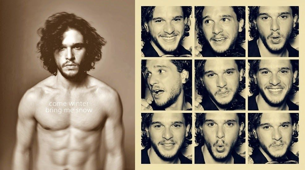 Kit Harington and those damn curls and abs..gets me everytime :)