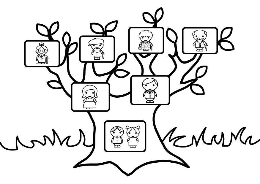Dibujo Arbol Para Colorear - AZ Dibujos para colorear | Aile ...