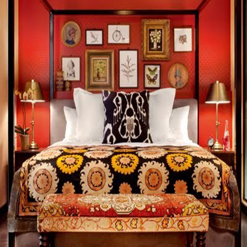 Colorful Bedroom With A Lot Of Red at Awesome Colorful Bedroom Design Ideas