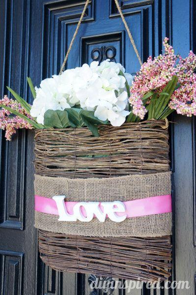 Easy Valentine Front Door Decoration | Front doors, Doors ...