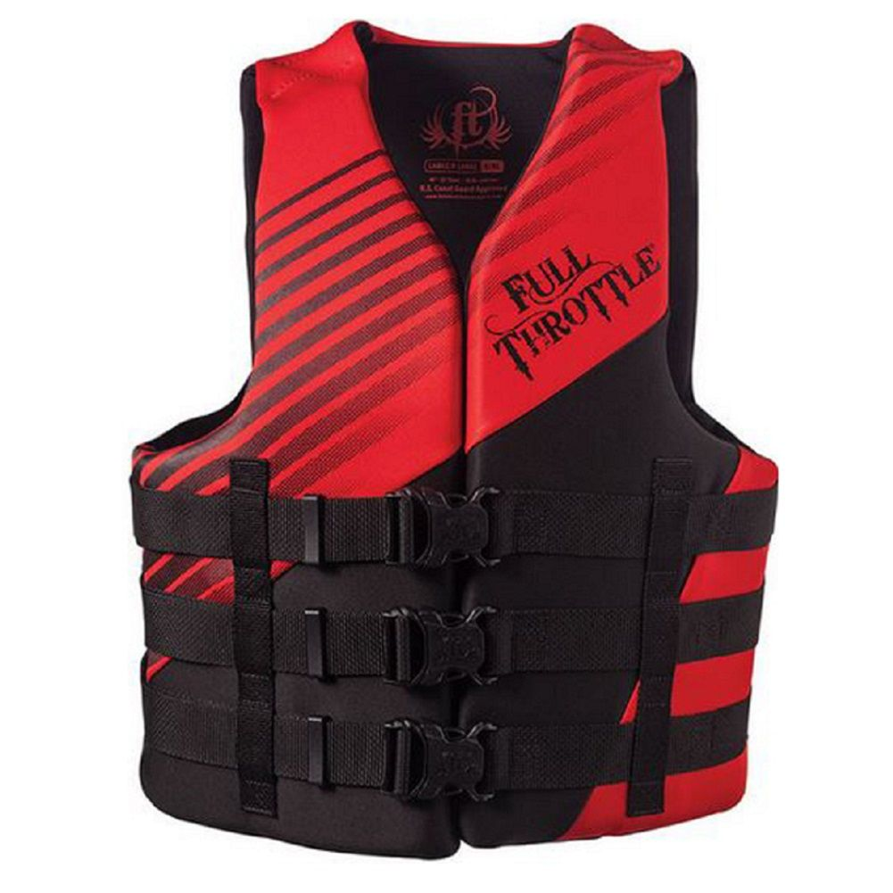 Full Throttle Adult RapidDry Life Jacket Vest Full