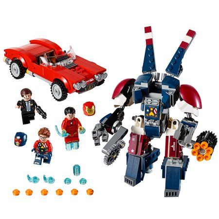 Lego Super Heroes Iron Man: Detroit Steel Strikes 76077, Multicolor ...