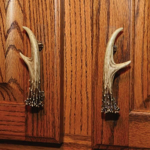 NEW RUSTIC WHITETAIL DEER ANTLER DRAWER KNOB Farm House Cabin CABINET PULL