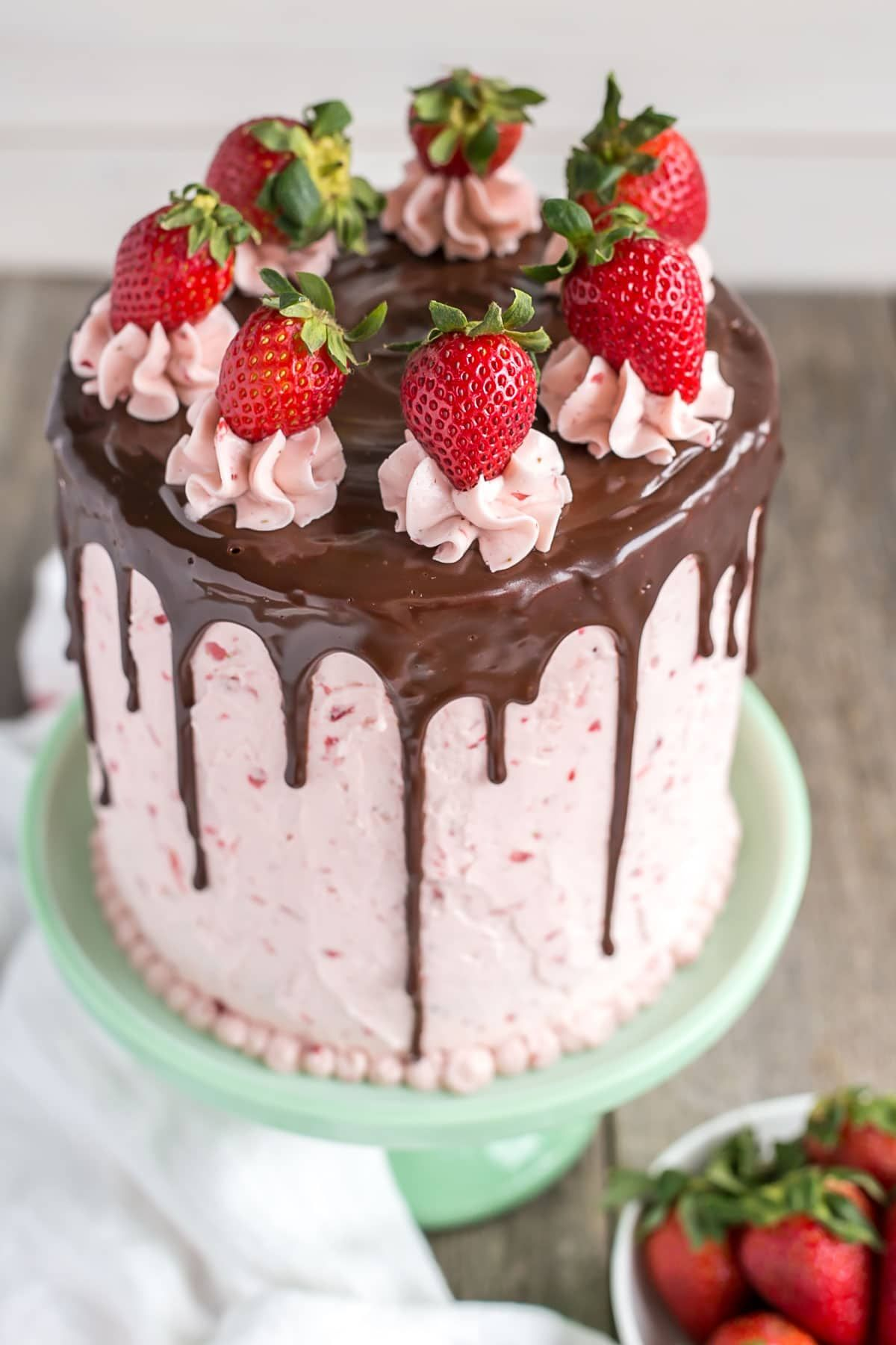 Strawberry Almond Layer Cake Recipe