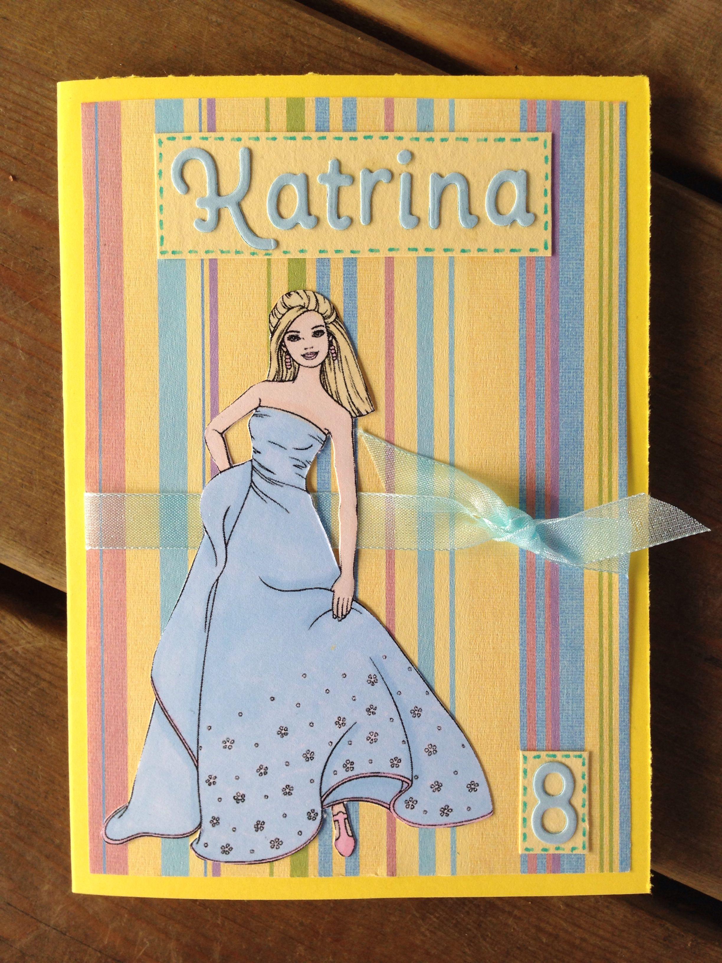 Barbie Birthday Card Barbie Birthday Birthday Card Craft Birthday Cards
