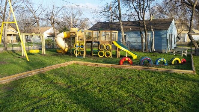 We build awesome completely custom playgrounds from scratch any size style you want !!! This is one we just built for a church !!!