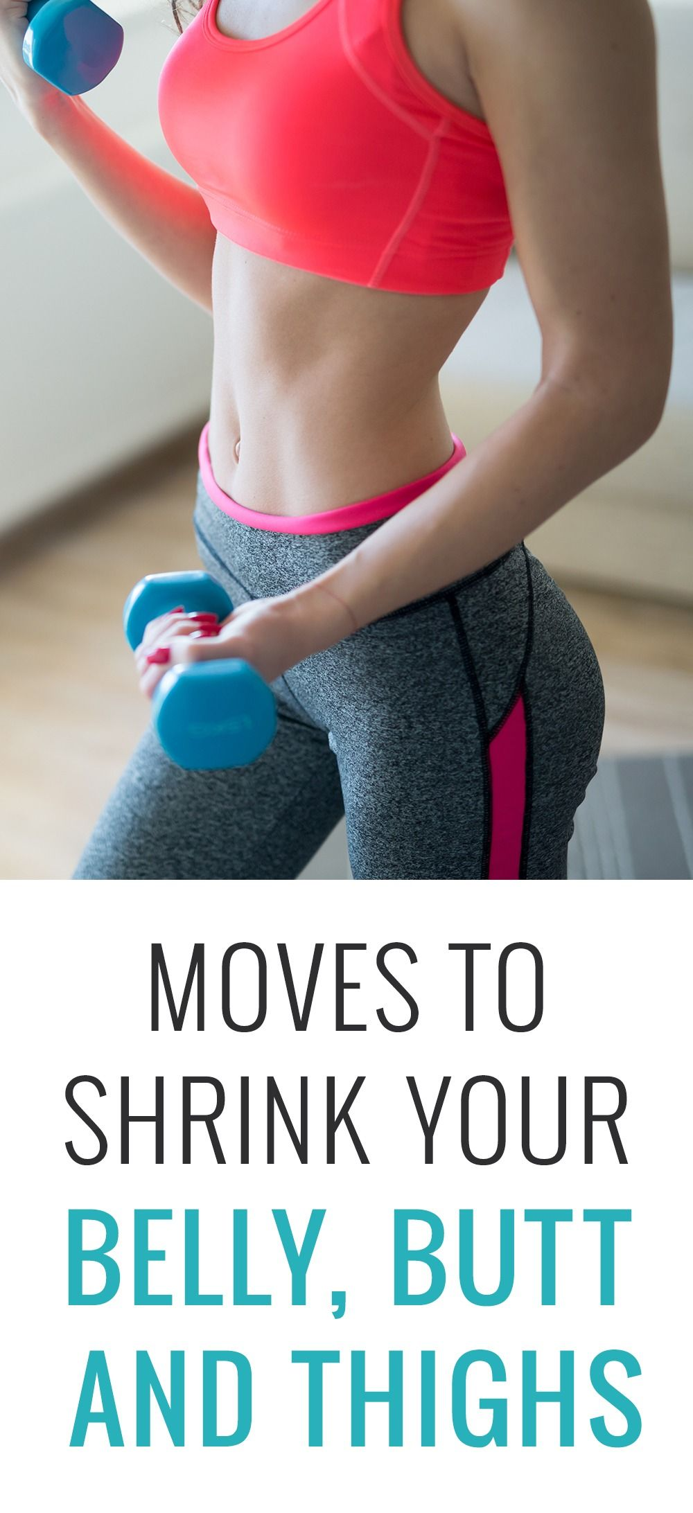 Moves to shrink your belly butt and thighs exercises pinterest