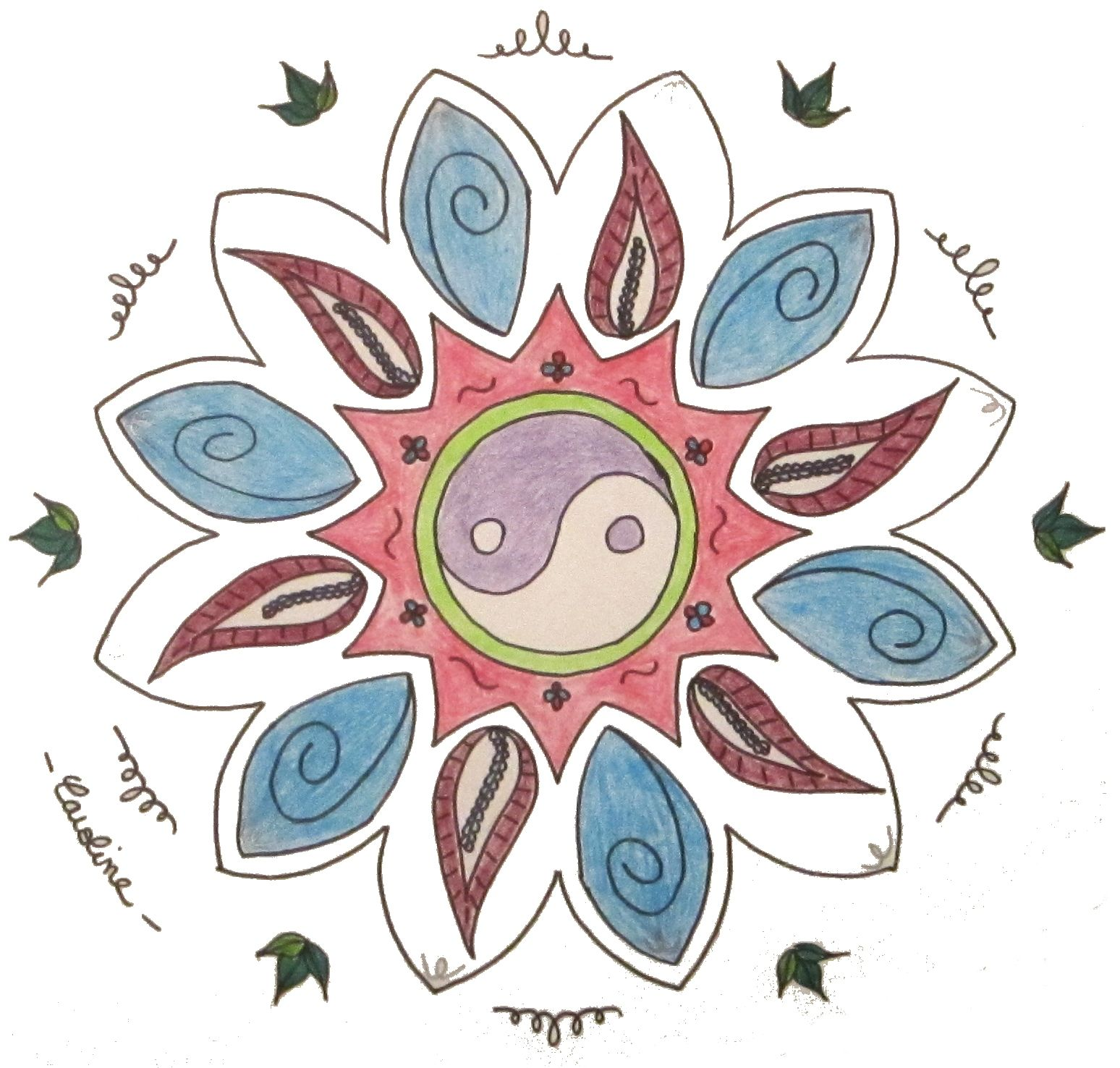 #Mandala #Ying et #Yang
