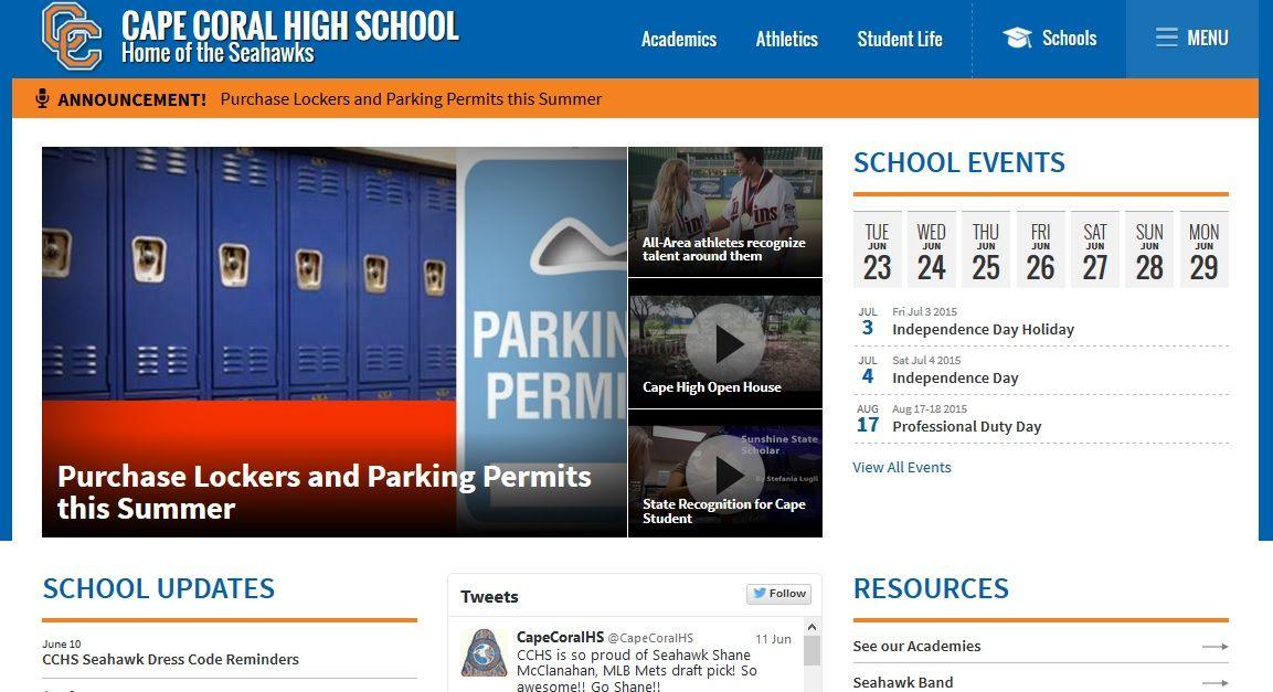 Cape Coral High School        2300 Santa Barbara Blvd, Cape Coral FL 33991 Tel: 574-6766 Fax: 574-7799