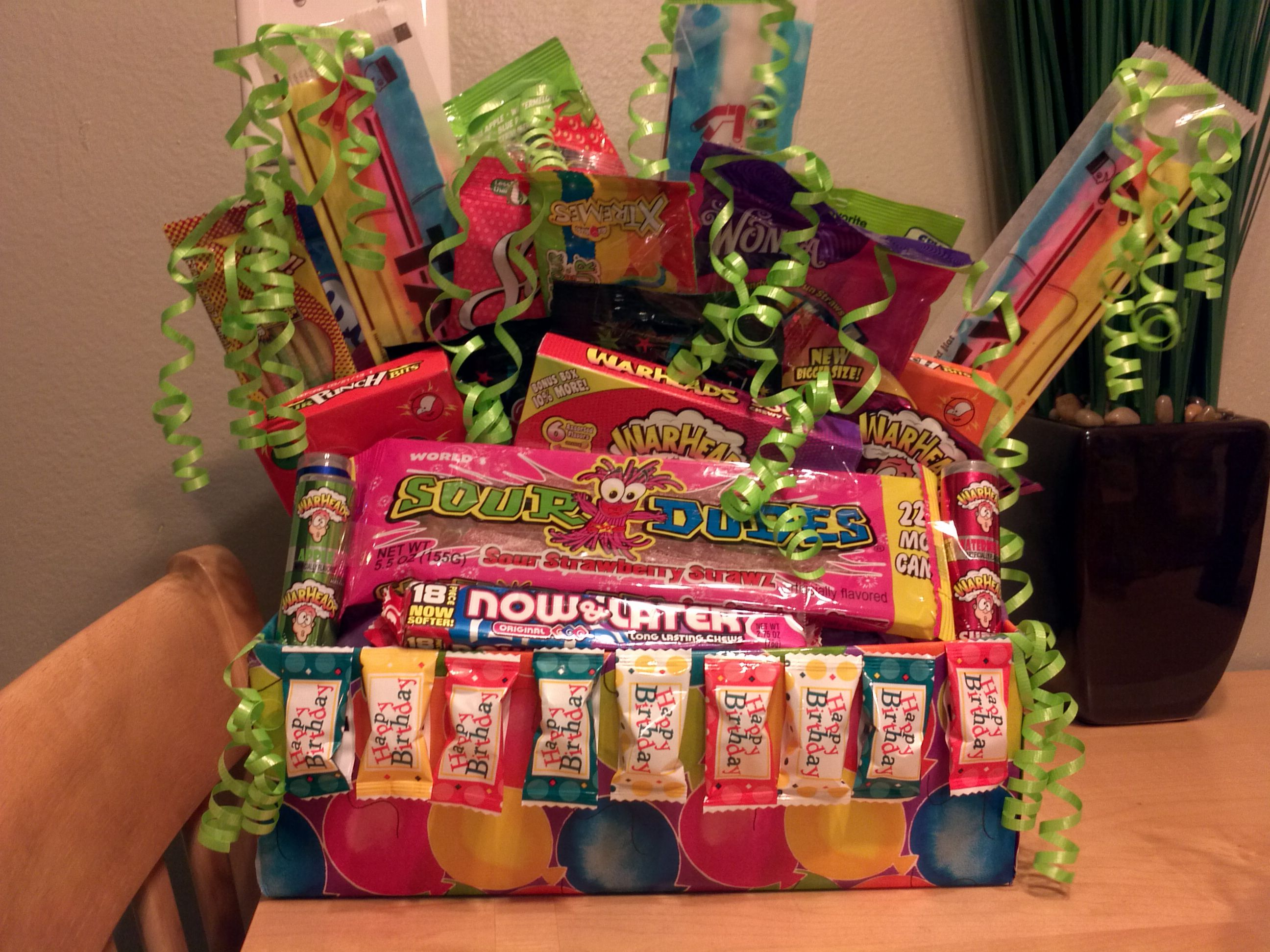 Candy gift basket for a friend candy gift baskets