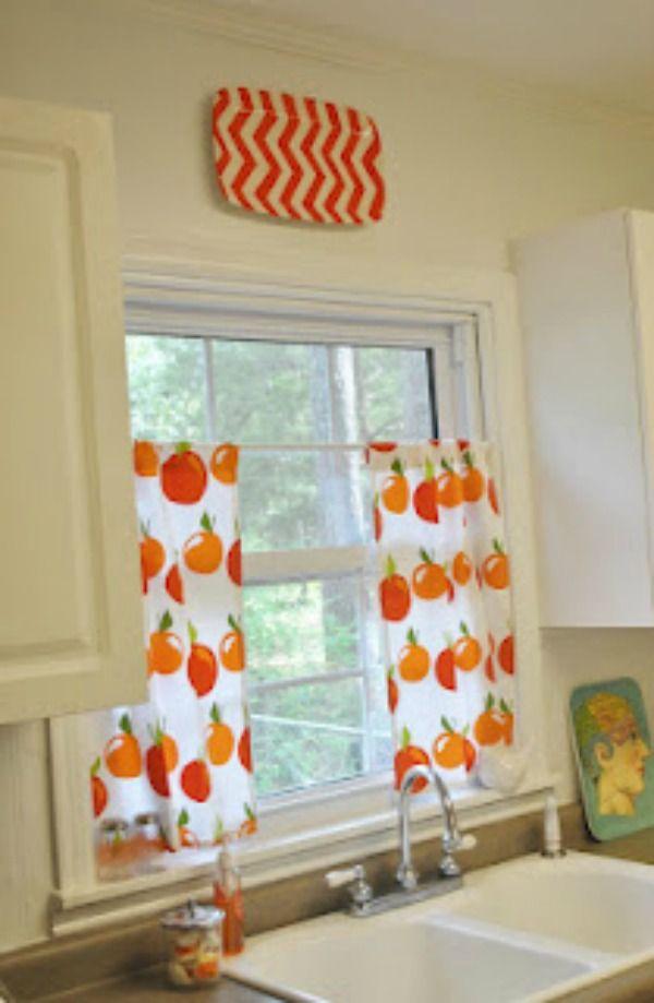 Wonderful La T Dah Colorful House Tour At Eclecticallyvintage.com · Curtains For  KitchenCafe ...