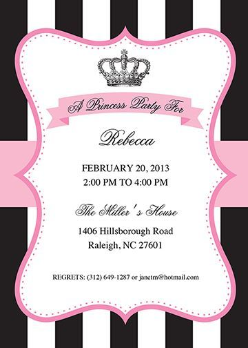 Celebrate Julieu0027s Birthday! Projects to Try Pinterest - free party invitation templates word
