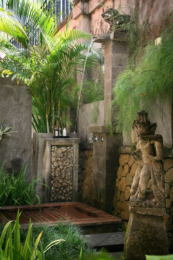 20 tropical outdoor showers with peaceful feeling fascinating pinterest douche jardins. Black Bedroom Furniture Sets. Home Design Ideas