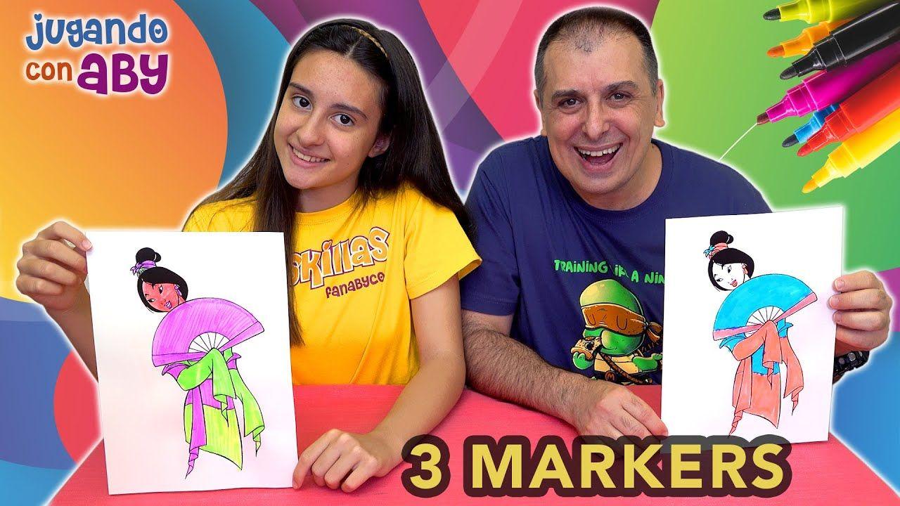 3 Marker Challenge Plus De Mulán De Disney Con Rotuladores De Colores Rotuladores De Colores Mulan Rotuladores
