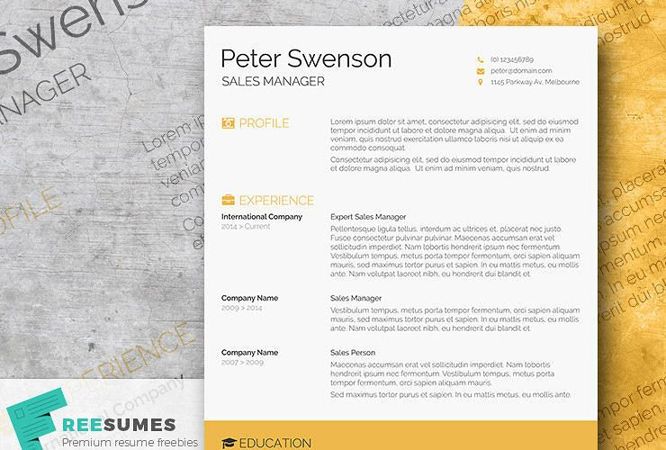 Goldenrod Yellow A Free Clean Word Resume Template