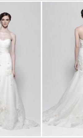 Used Watters Wedding Dress 7072B Size 8