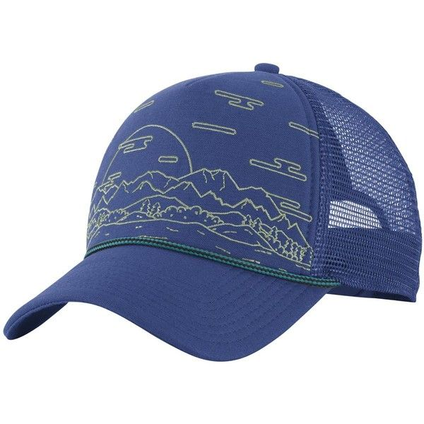 db24dd596aa The North Face Cross Stitch Trucker Hat - Landscape ( 28) ❤ liked on  Polyvore