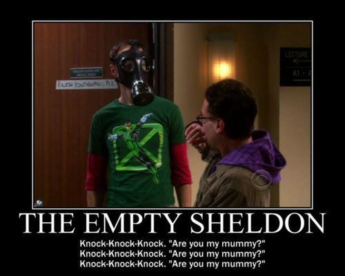 The Empty Sheldon - OMG - two of my geeky fandoms collide!