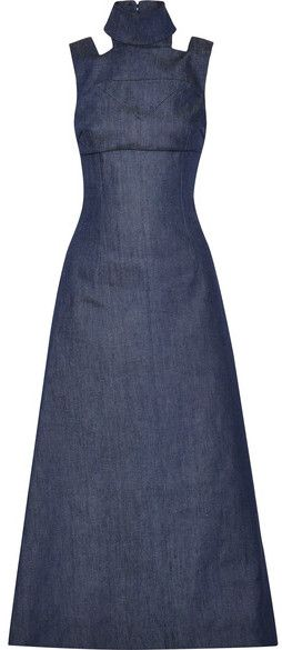 Emilia Wickstead - Mary Cutout Denim Maxi Dress - Indigo