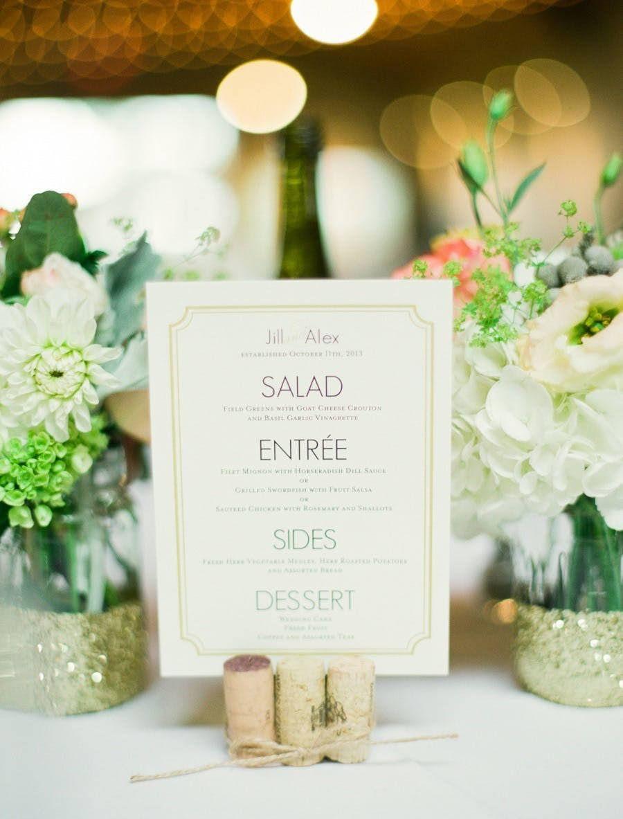Cork Menu Holder | Wedding decor ideas | Pinterest | Menu holders ...