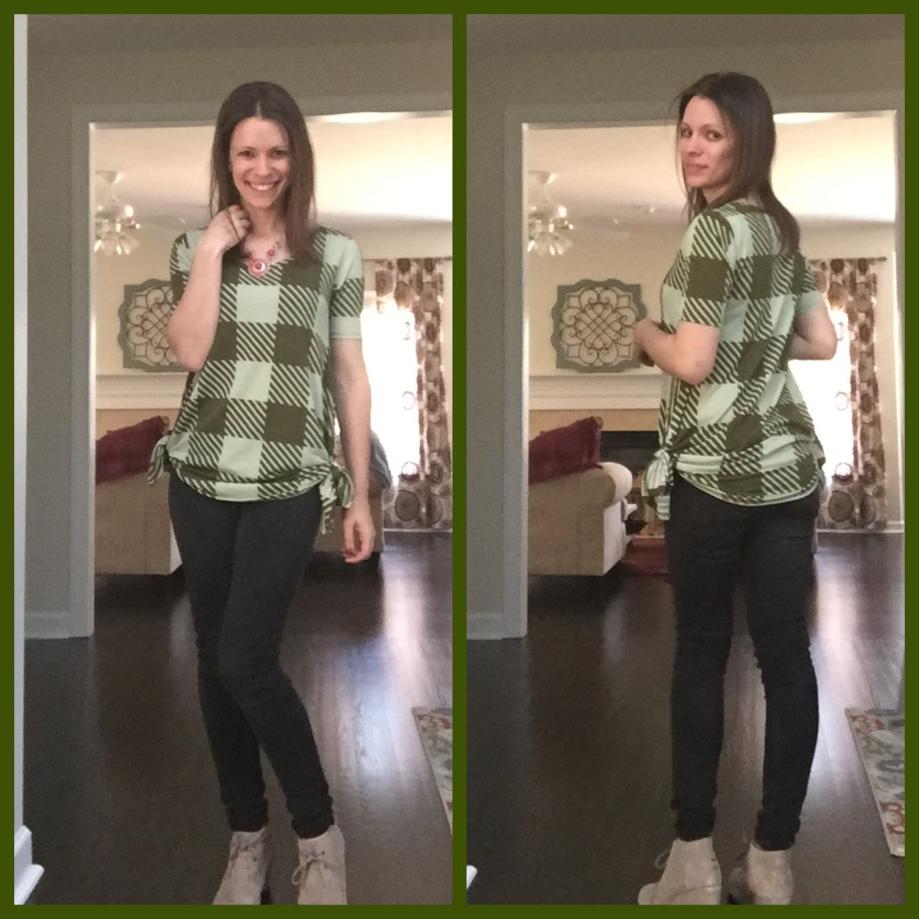 d738a2c762f0e The Lularoe Perfect Tee! Tie the slits on the side to give it a little more  of a form fitting shape and a fun look!!